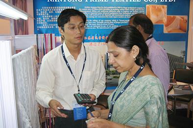 Textile exhibition in India