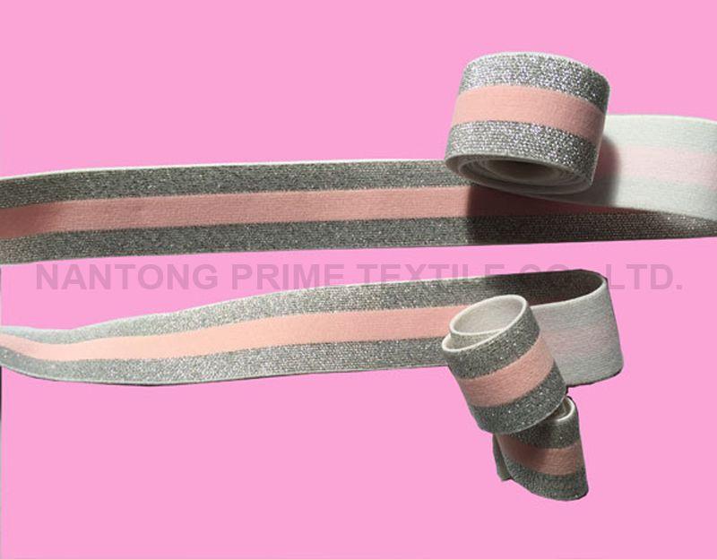 Silver glitter elastic-- Manufacturer
