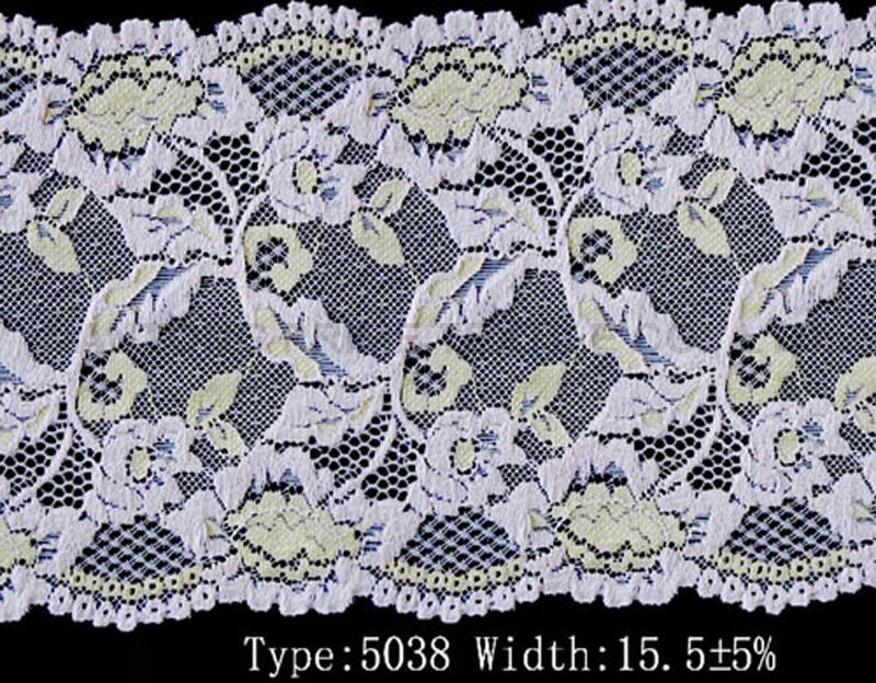 white color elastic lace